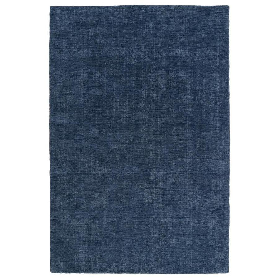 Kaleen Lauderdale Blue Rectangular Indoor/Outdoor Handcrafted Coastal Area Rug (Common: 8 x 10; Actual: 8-ft W x 10-ft L)