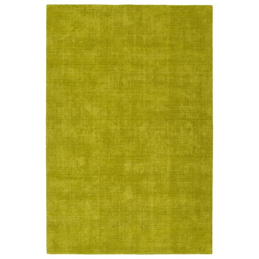 Kaleen Lauderdale Lime Green Rectangular Indoor/Outdoor Handcrafted Coastal Area Rug (Common: 5 x 8; Actual: 5-ft W x 7.5-ft L)