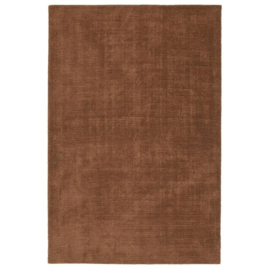 Kaleen Lauderdale Lt. Brown Rectangular Indoor/Outdoor Handcrafted Coastal Area Rug (Common: 4 x 6; Actual: 3.5-ft W x 5.5-ft L)