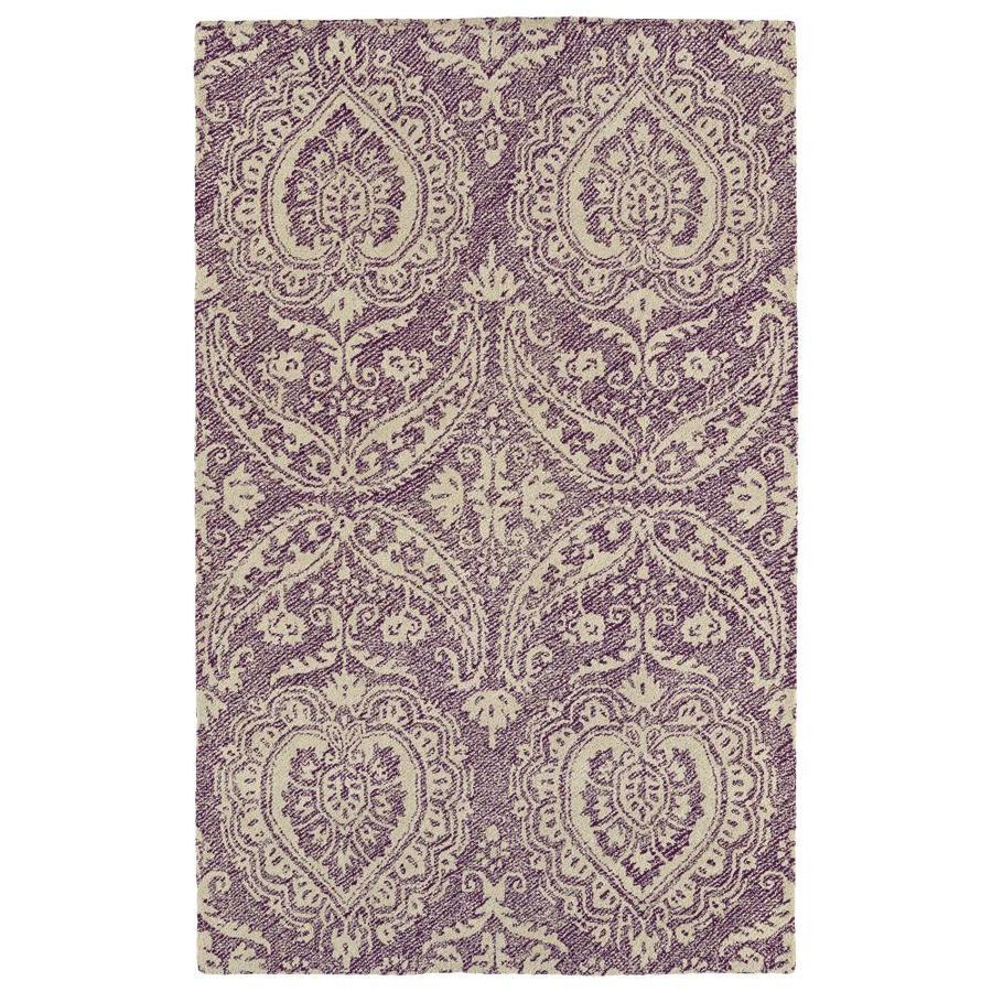 Kaleen Weathered Purple Rectangular Indoor/Outdoor Handcrafted Distressed Area Rug (Common: 3 x 8; Actual: 3-ft W x 10-ft)