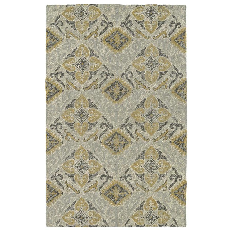 Kaleen Weathered Spa Rectangular Indoor/Outdoor Handcrafted Distressed Area Rug (Common: 8 x 10; Actual: 8-ft W x 10-ft)