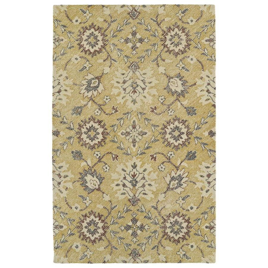 Kaleen Weathered Gold Rectangular Indoor/Outdoor Handcrafted Distressed Throw Rug (Common: 2 x 3; Actual: 2-ft W x 3-ft)