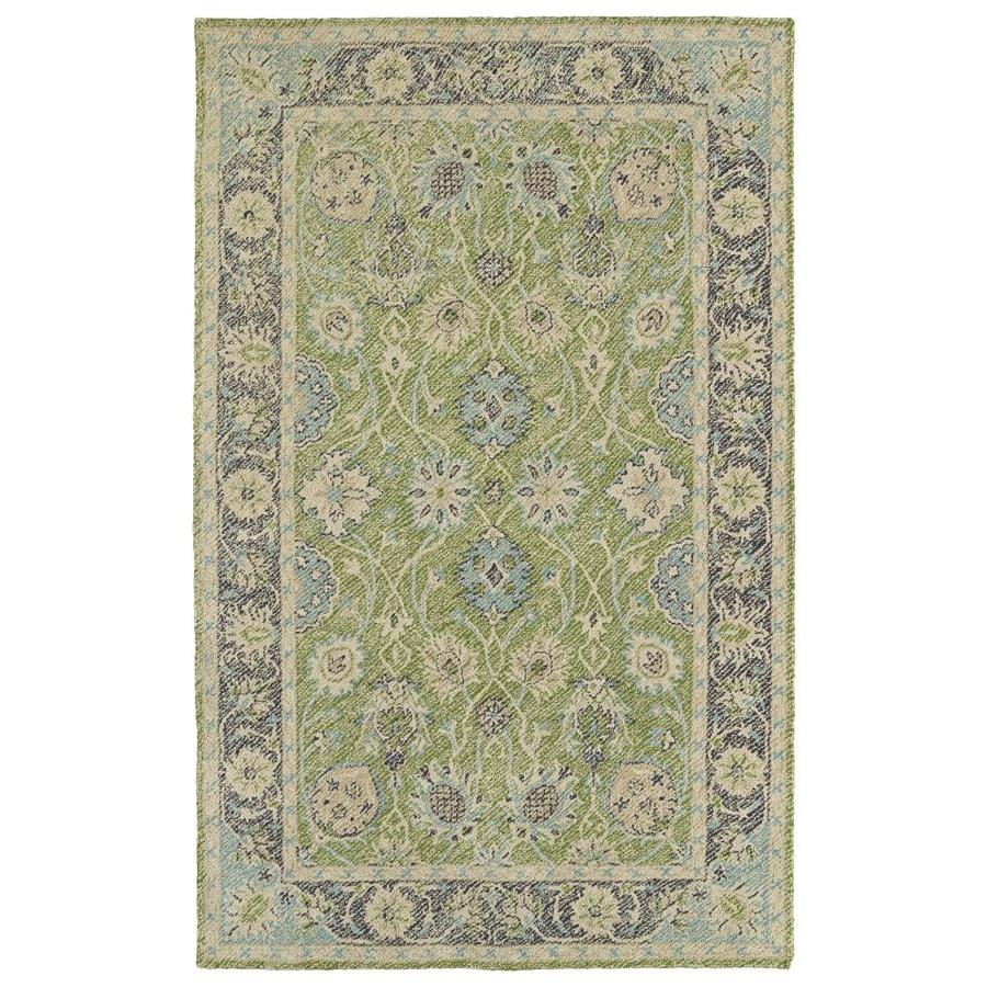 Kaleen Weathered Lime Green Rectangular Indoor/Outdoor Handcrafted Distressed Area Rug (Common: 5 x 8; Actual: 5-ft W x 7.5-ft)