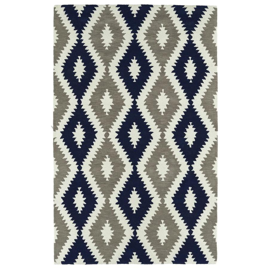 Kaleen Lakota Navy Indoor Handcrafted Southwestern Area Rug (Common: 4 x 6; Actual: 3.5-ft W x 5.5-ft L)