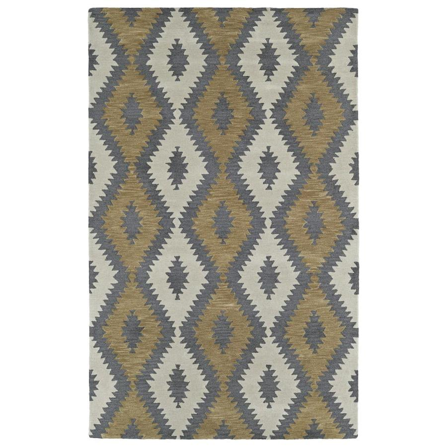 Kaleen Lakota Camel Indoor Handcrafted Southwestern Area Rug (Common: 9 x 12; Actual: 9-ft W x 12-ft L)