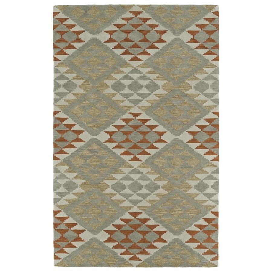 Kaleen Lakota Paprika Rectangular Indoor Handcrafted Southwestern Area Rug (Common: 5 x 8; Actual: 5-ft W x 7.75-ft L)