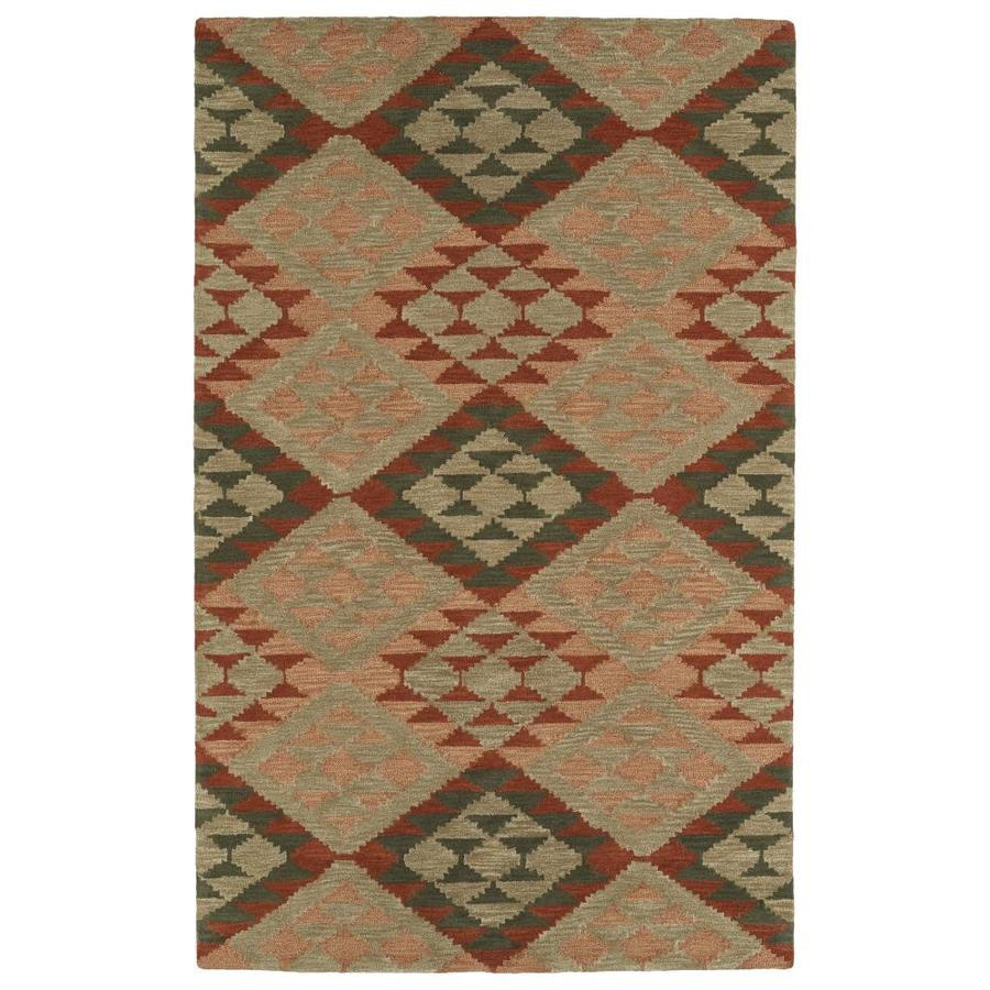 shop kaleen lakota indoor handcrafted southwestern area rug common 9 x 12 actual 9 ft w x 12. Black Bedroom Furniture Sets. Home Design Ideas