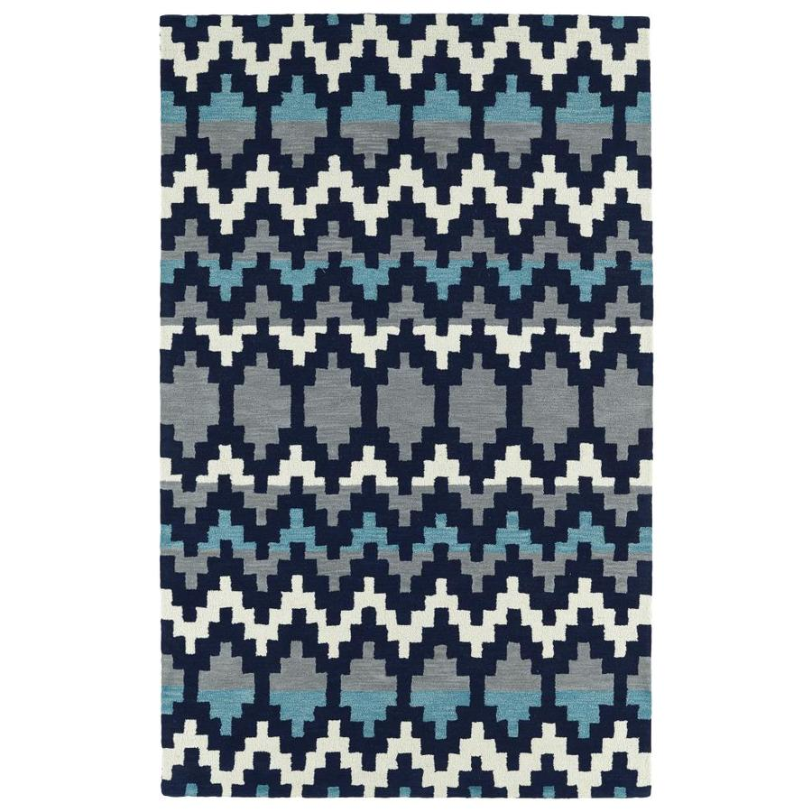 Kaleen Lakota Navy Indoor Handcrafted Southwestern Area Rug (Common: 8 x 10; Actual: 8-ft W x 10-ft L)