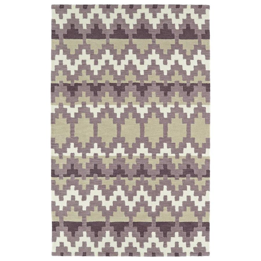 Kaleen Lakota Purple Rectangular Indoor Handcrafted Southwestern Area Rug (Common: 4 x 6; Actual: 3.5-ft W x 5.5-ft L)