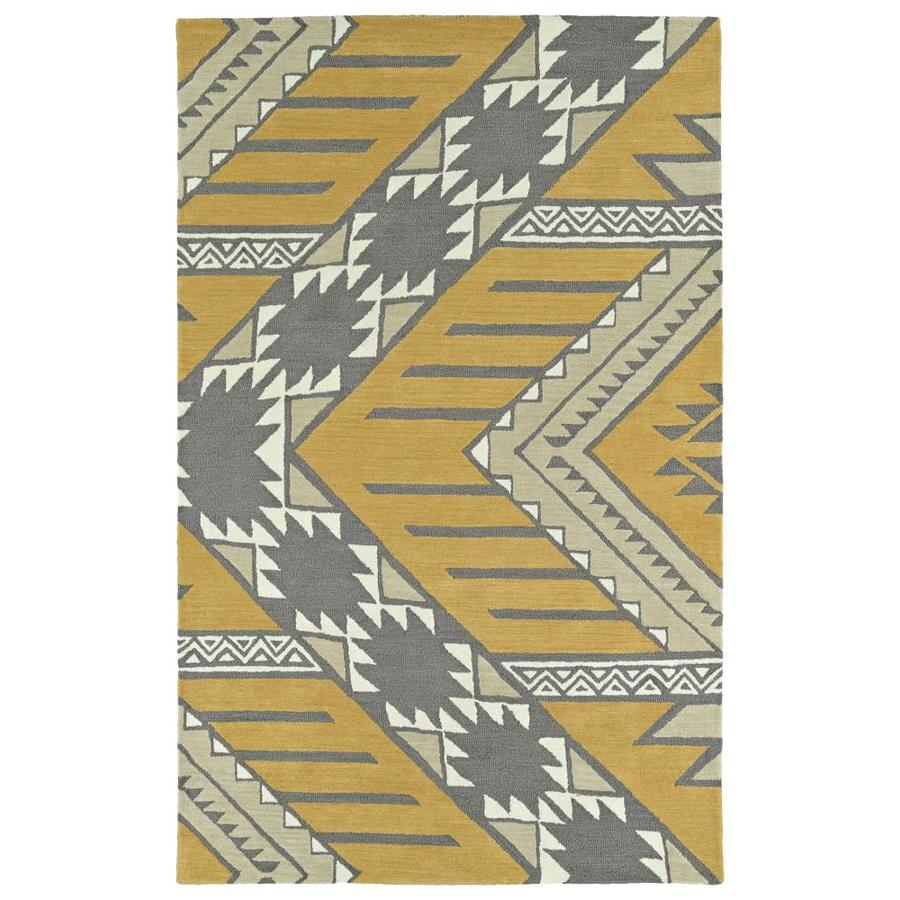 Kaleen Lakota Butterscotch Rectangular Indoor Handcrafted Southwestern Area Rug (Common: 5 x 8; Actual: 5-ft W x 7.75-ft L)