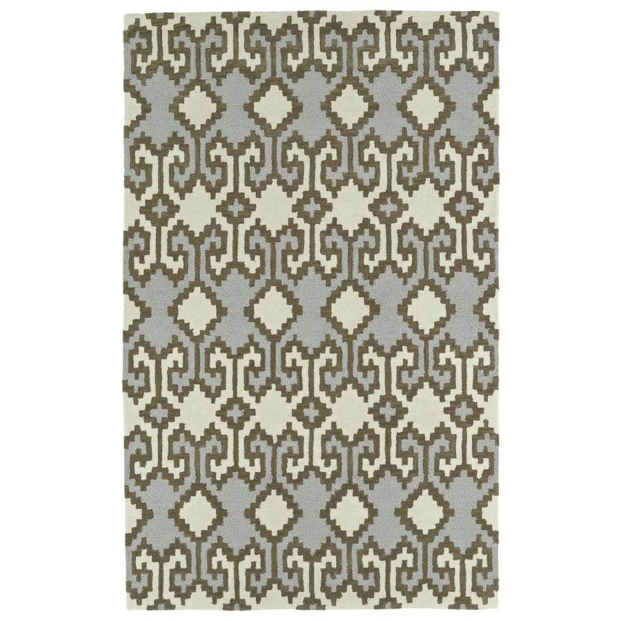 Kaleen Lakota Ivory Indoor Handcrafted Southwestern Area Rug (Common: 9 x 12; Actual: 9-ft W x 12-ft L)
