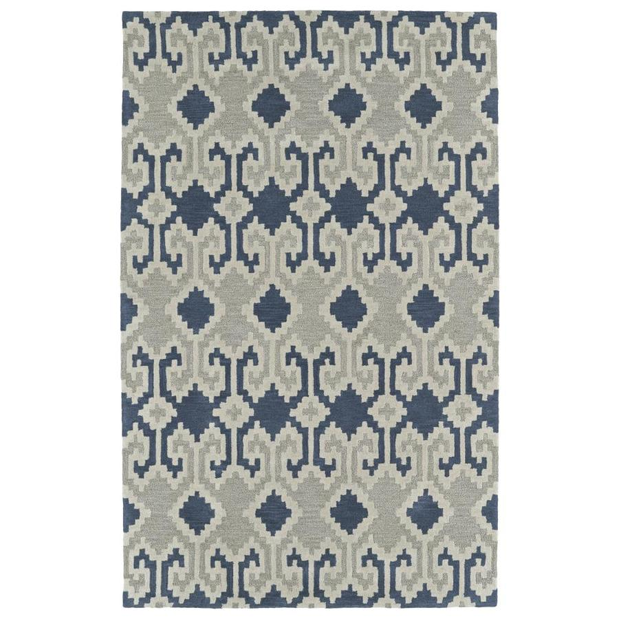 Kaleen Lakota Denim Indoor Handcrafted Southwestern Runner (Common: 2 x 8; Actual: 2.25-ft W x 8-ft L)