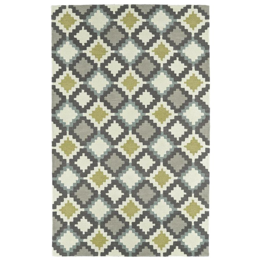 Kaleen Lakota Ivory Rectangular Indoor Handcrafted Southwestern Area Rug (Common: 9 x 12; Actual: 9-ft W x 12-ft L)