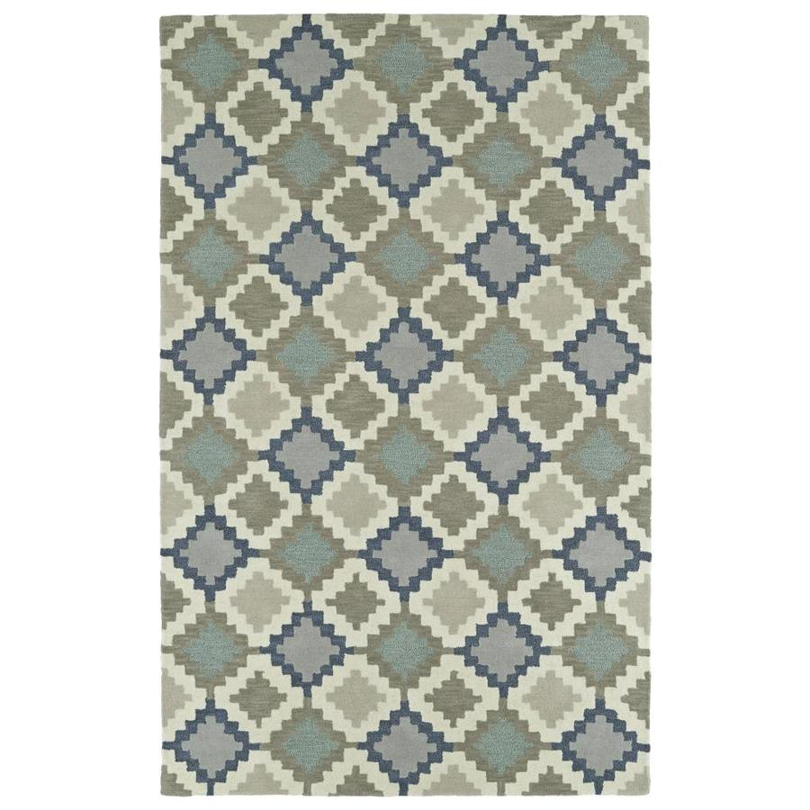 Kaleen Lakota Denim Indoor Handcrafted Southwestern Area Rug (Common: 8 x 10; Actual: 8-ft W x 10-ft L)