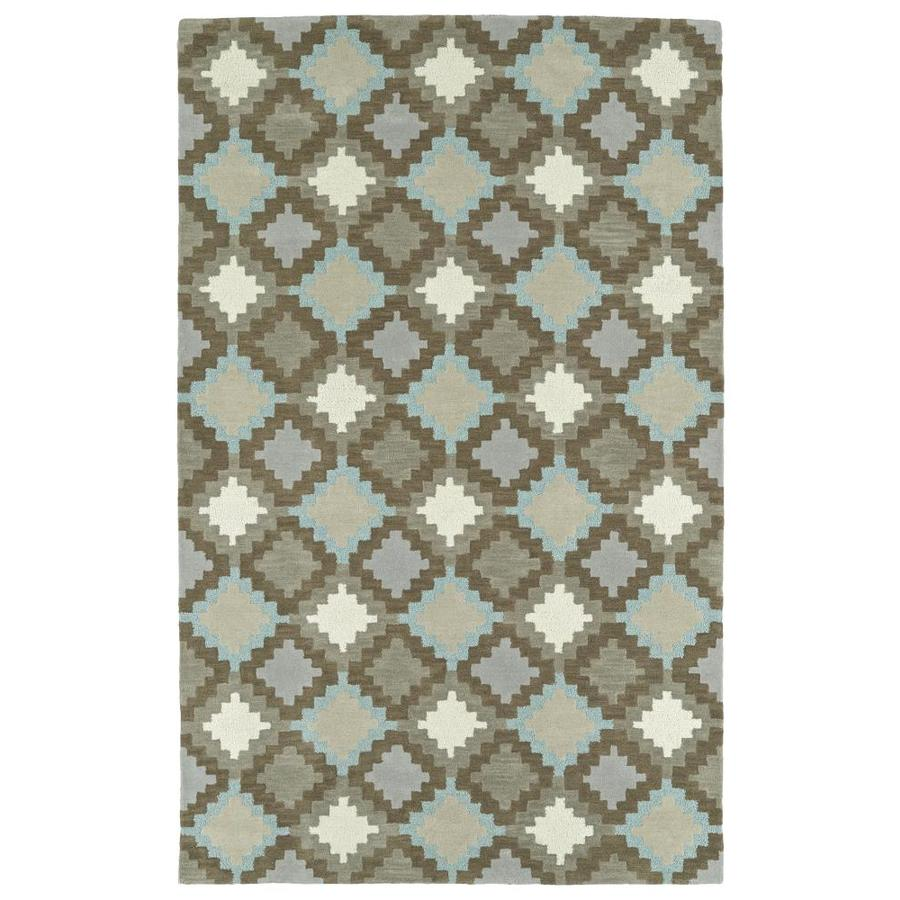 Kaleen Lakota Grey Indoor Handcrafted Southwestern Area Rug (Common: 8 x 10; Actual: 8-ft W x 10-ft L)
