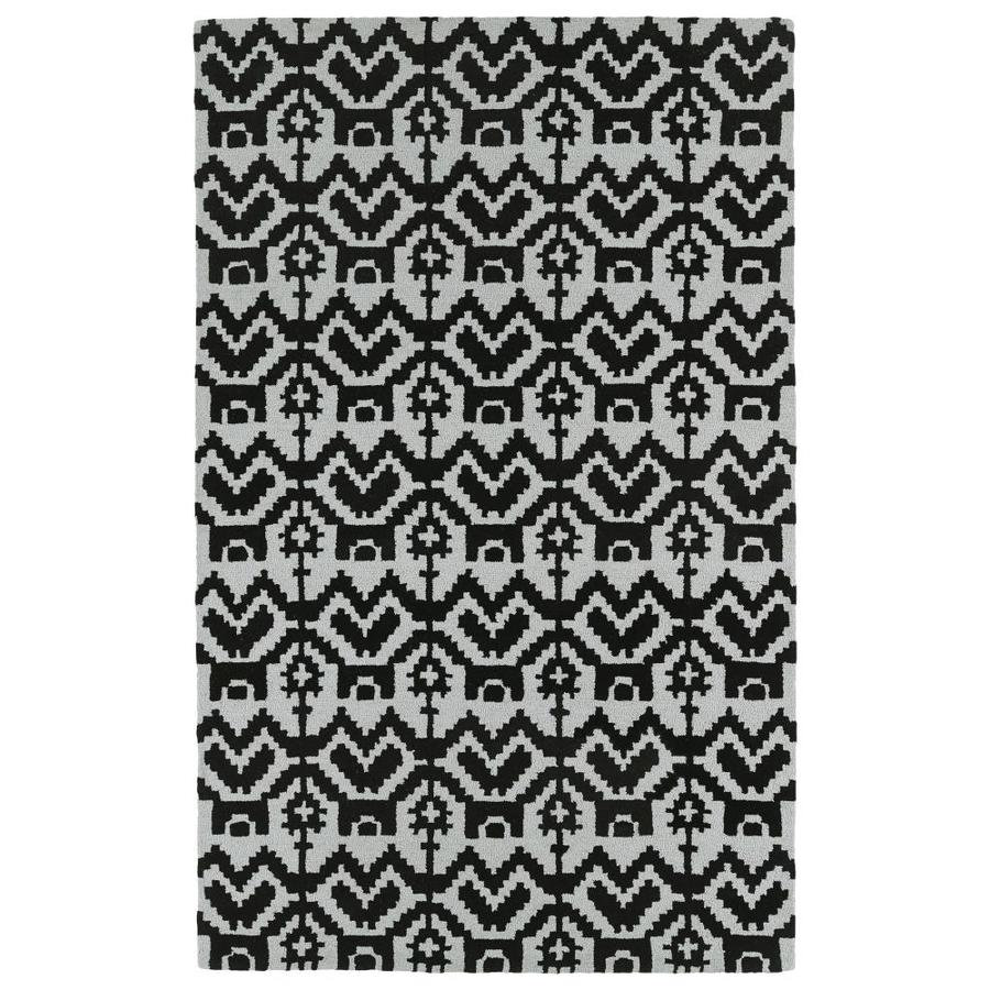 Kaleen Lakota Black Indoor Handcrafted Southwestern Area Rug (Common: 4 x 6; Actual: 3.5-ft W x 5.5-ft L)