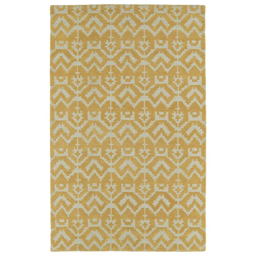 Kaleen Lakota Butterscotch Indoor Handcrafted Southwestern Area Rug (Common: 9 x 12; Actual: 9-ft W x 12-ft L)
