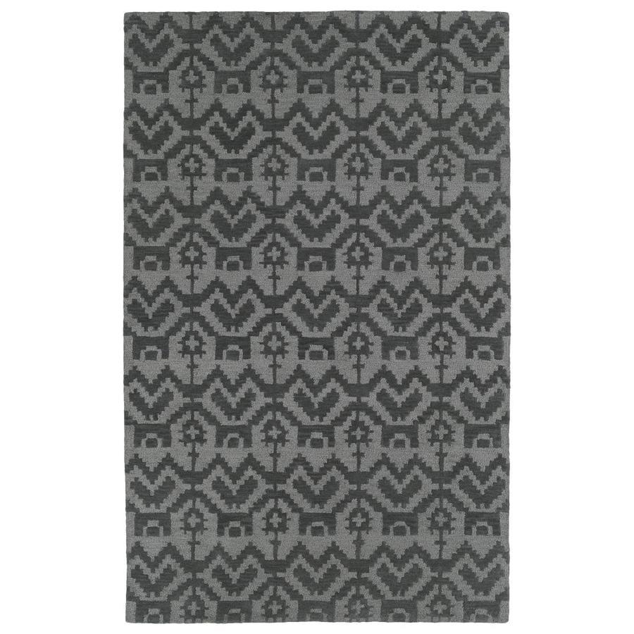Kaleen Lakota Grey Rectangular Indoor Handcrafted Southwestern Area Rug (Common: 4 x 6; Actual: 3.5-ft W x 5.5-ft L)