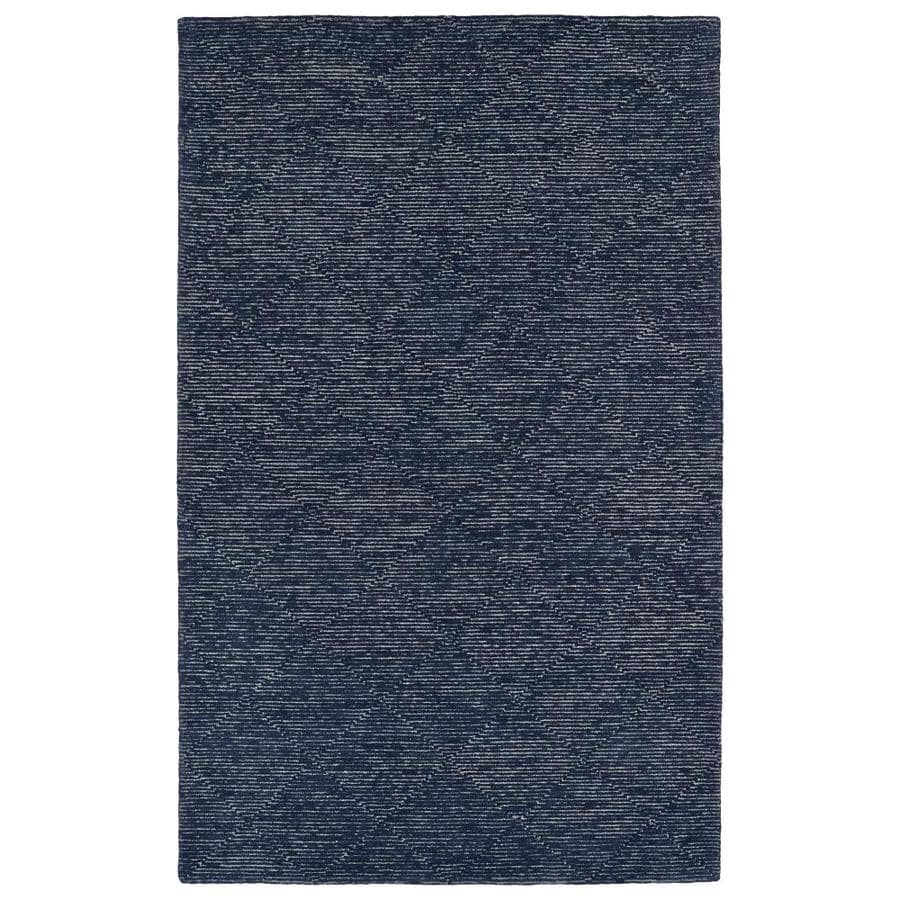 Kaleen Evanesce Navy 2-ft x 3-ft Throw Rug