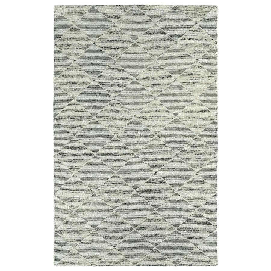 Kaleen Evanesce Grey Indoor Handcrafted Distressed Area Rug (Common: 4 x 6; Actual: 3.5-ft W x 5.5-ft L)