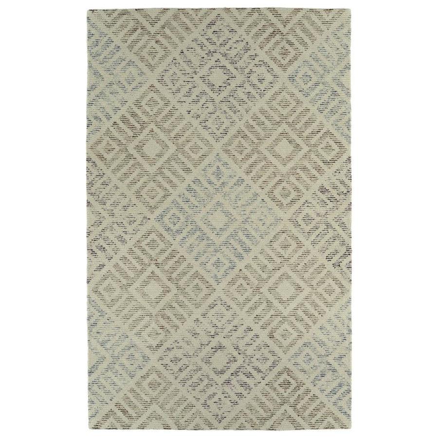 Kaleen Evanesce Beige Indoor Handcrafted Distressed Area Rug (Common: 4 x 6; Actual: 3.5-ft W x 5.5-ft L)