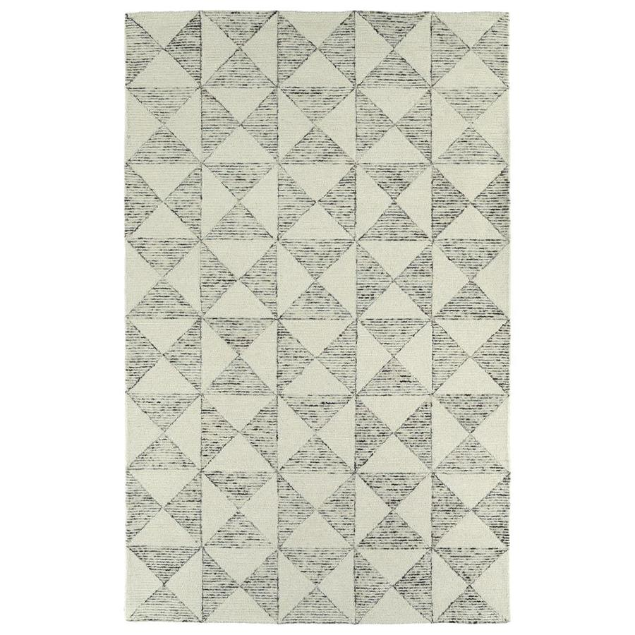 Kaleen Evanesce Ivory Indoor Handcrafted Distressed Area Rug (Common: 4 x 6; Actual: 3.5-ft W x 5.5-ft L)