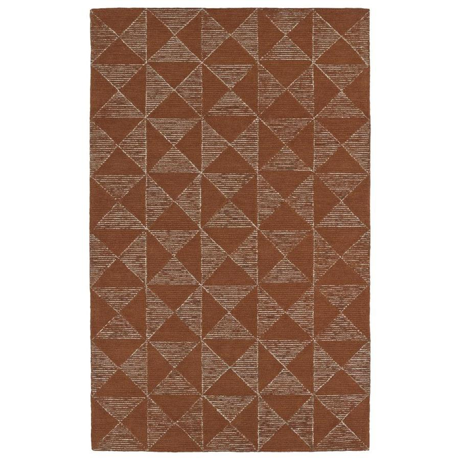 Kaleen Evanesce Paprika Indoor Handcrafted Distressed Area Rug (Common: 8 x 10; Actual: 8-ft W x 10-ft L)