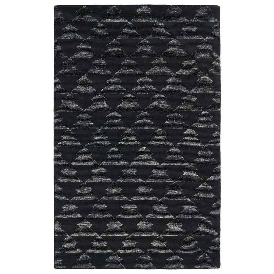 Kaleen Evanesce Black Indoor Handcrafted Distressed Area Rug (Common: 8 x 10; Actual: 8-ft W x 10-ft L)