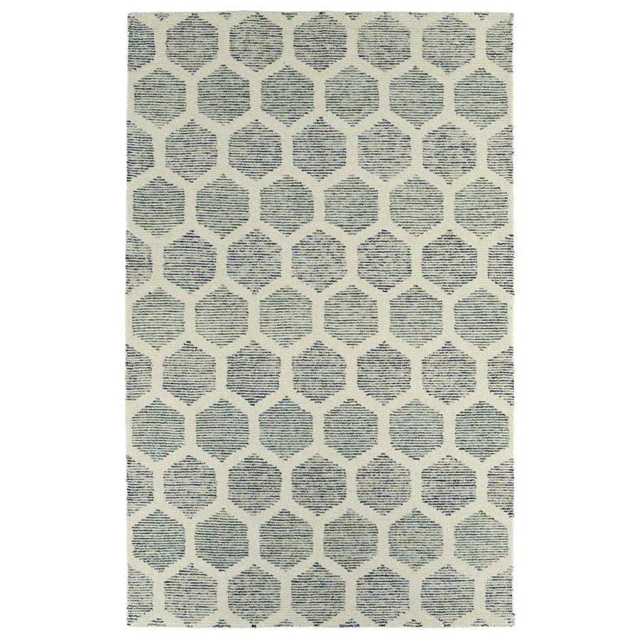 Kaleen Evanesce Ivory Indoor Handcrafted Distressed Throw Rug (Common: 2 x 3; Actual: 2-ft W x 3-ft L)