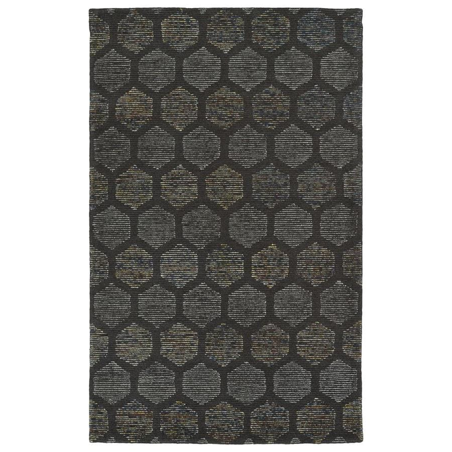 Kaleen Evanesce Chocolate Indoor Handcrafted Distressed Area Rug (Common: 8 x 10; Actual: 8-ft W x 10-ft L)