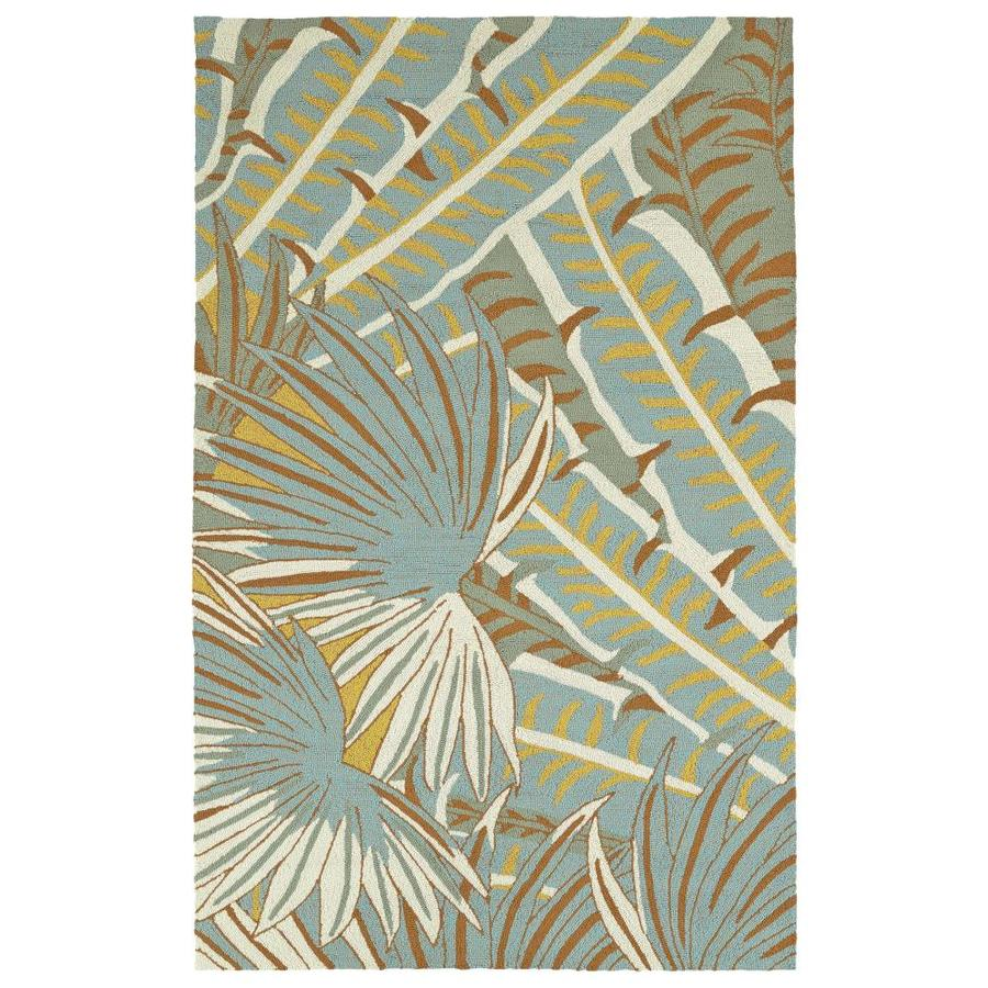 Kaleen Yunque Ivory Indoor/Outdoor Handcrafted Coastal Throw Rug (Common: 3 x 5; Actual: 3-ft W x 5-ft L)