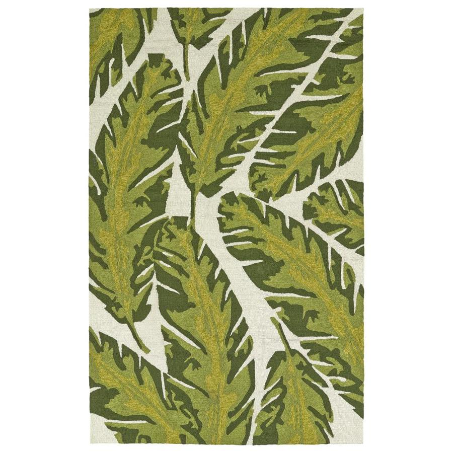 Kaleen Yunque Ivory Indoor/Outdoor Handcrafted Coastal Area Rug (Common: 8 x 10; Actual: 8-ft W x 10-ft L)