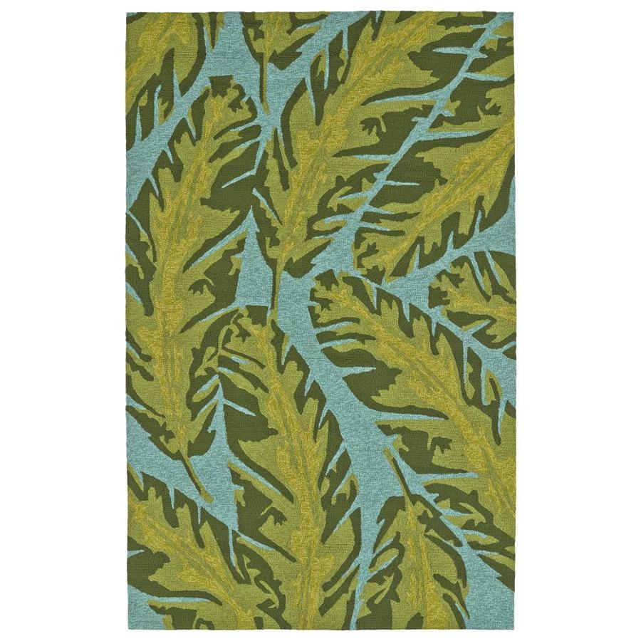 Kaleen Yunque Blue Indoor/Outdoor Handcrafted Coastal Area Rug (Common: 5 x 8; Actual: 5-ft W x 7.5-ft L)