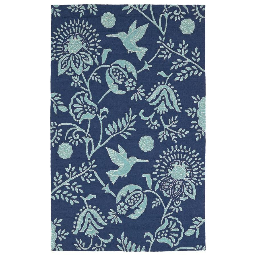 Kaleen Yunque Navy Rectangular Indoor/Outdoor Handcrafted Coastal Area Rug (Common: 8 x 10; Actual: 8-ft W x 10-ft L)