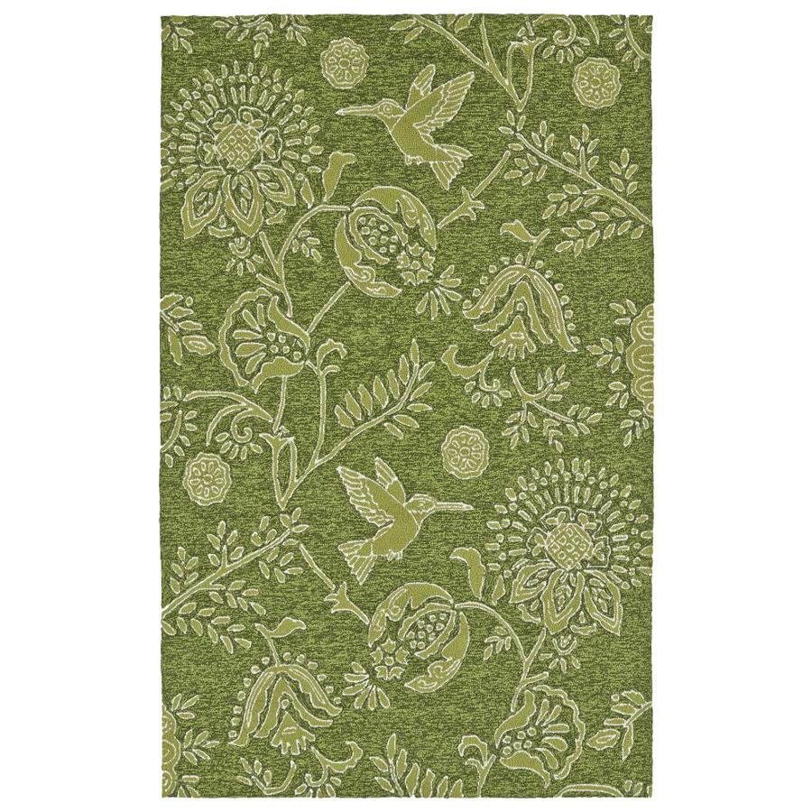 Kaleen Yunque Green Rectangular Indoor/Outdoor Handcrafted Coastal Runner (Common: 2 x 6; Actual: 2-ft W x 6-ft L)