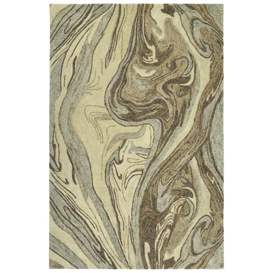 Kaleen Marble Sand Indoor Handcrafted Area Rug (Common: 5 x 8; Actual: 5-ft W x 7.75-ft L)