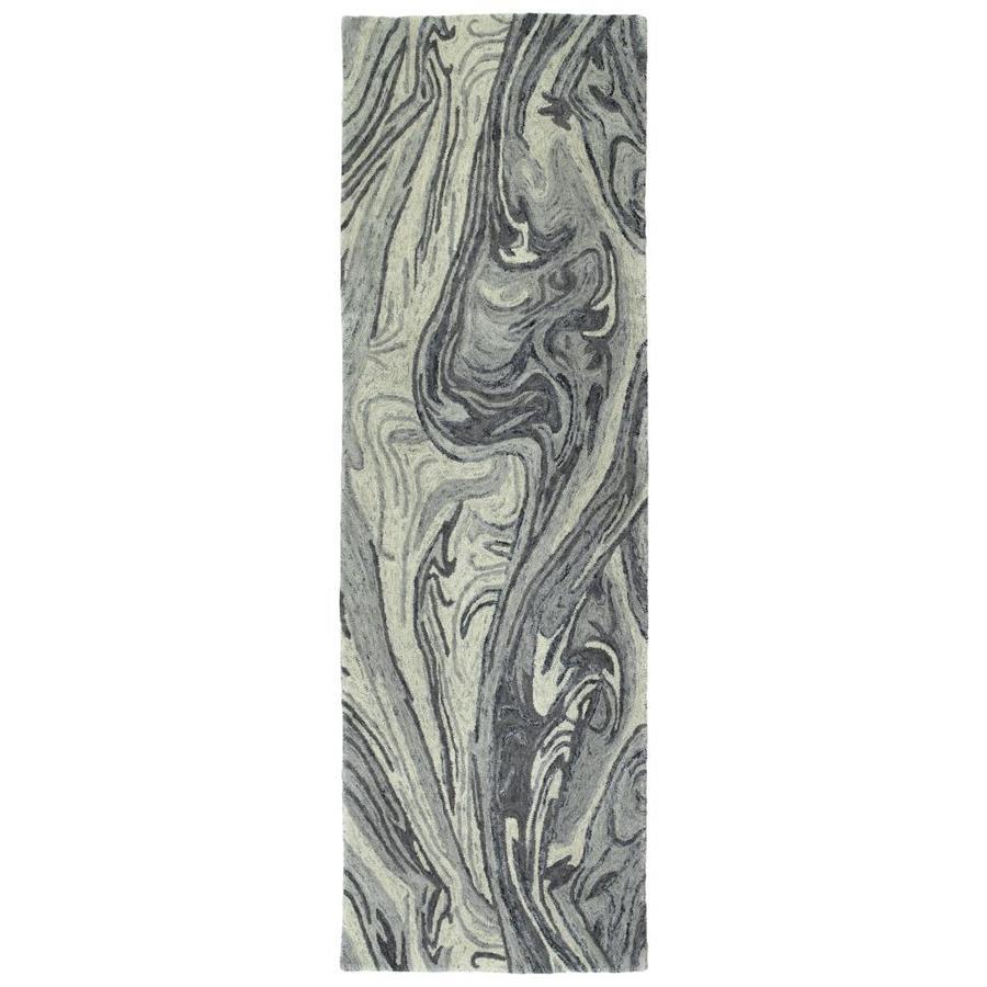 Kaleen Marble Grey Indoor Handcrafted Runner (Common: 3 x 8; Actual: 2.5-ft W x 8-ft L)