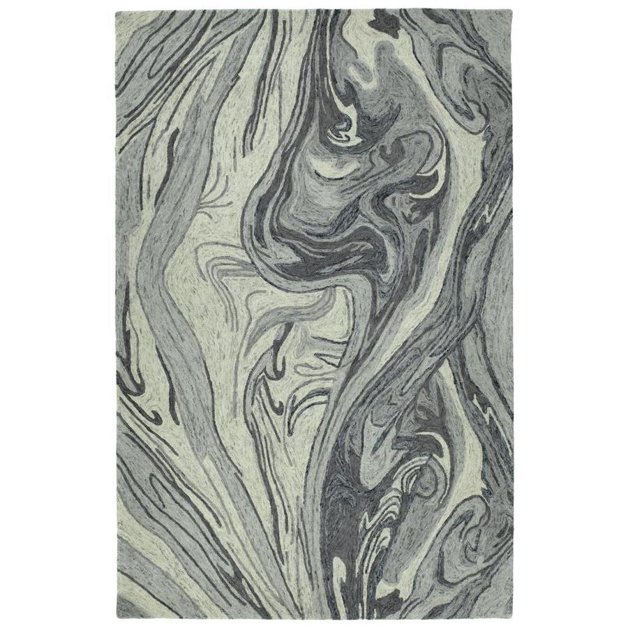 Kaleen Marble Grey Indoor Handcrafted Area Rug (Common: 5 x 8; Actual: 5-ft W x 7.75-ft L)