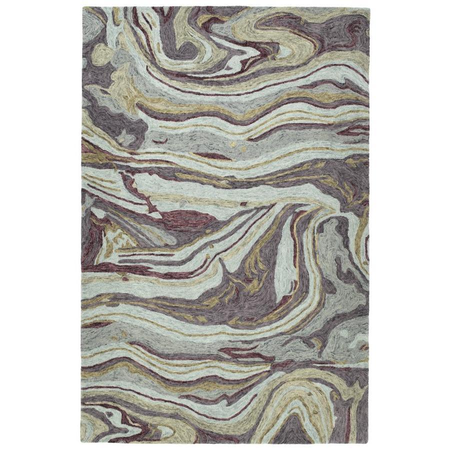 Kaleen Marble Aubergine Indoor Handcrafted Area Rug (Common: 8 x 11; Actual: 8-ft W x 11-ft L)