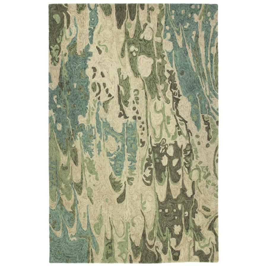 Kaleen Marble Green Indoor Handcrafted Area Rug (Common: 10 x 13; Actual: 9.5-ft W x 13-ft L)