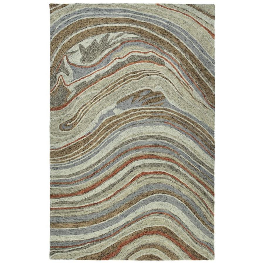Kaleen Marble Grey Indoor Handcrafted Throw Rug (Common: 2 x 3; Actual: 2-ft W x 3-ft L)