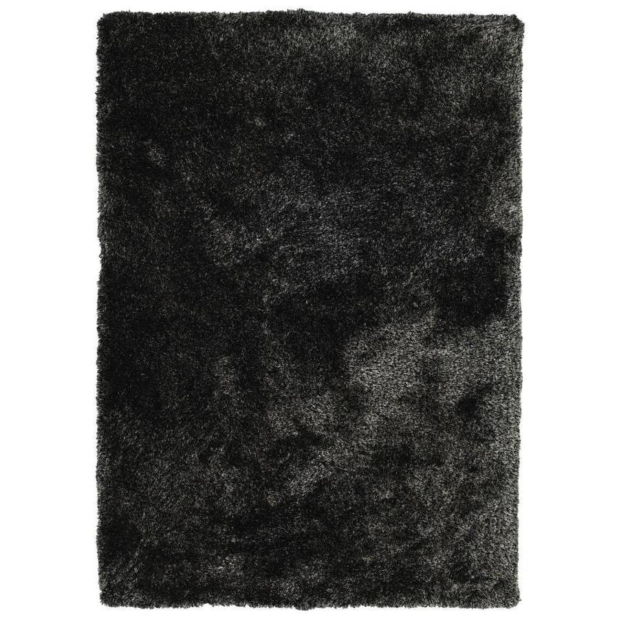 Kaleen Its So Fabulous Black Indoor Handcrafted Throw Rug (Common: 3 x 5; Actual: 3-ft W x 5-ft L)