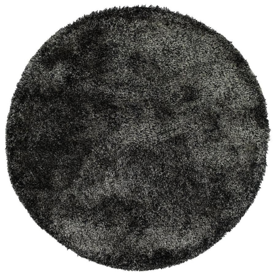 Kaleen Its So Fabulous Black Round Indoor Handcrafted Area Rug (Common: 8 x 8; Actual: 8-ft W x 8-ft L x 8-ft dia)
