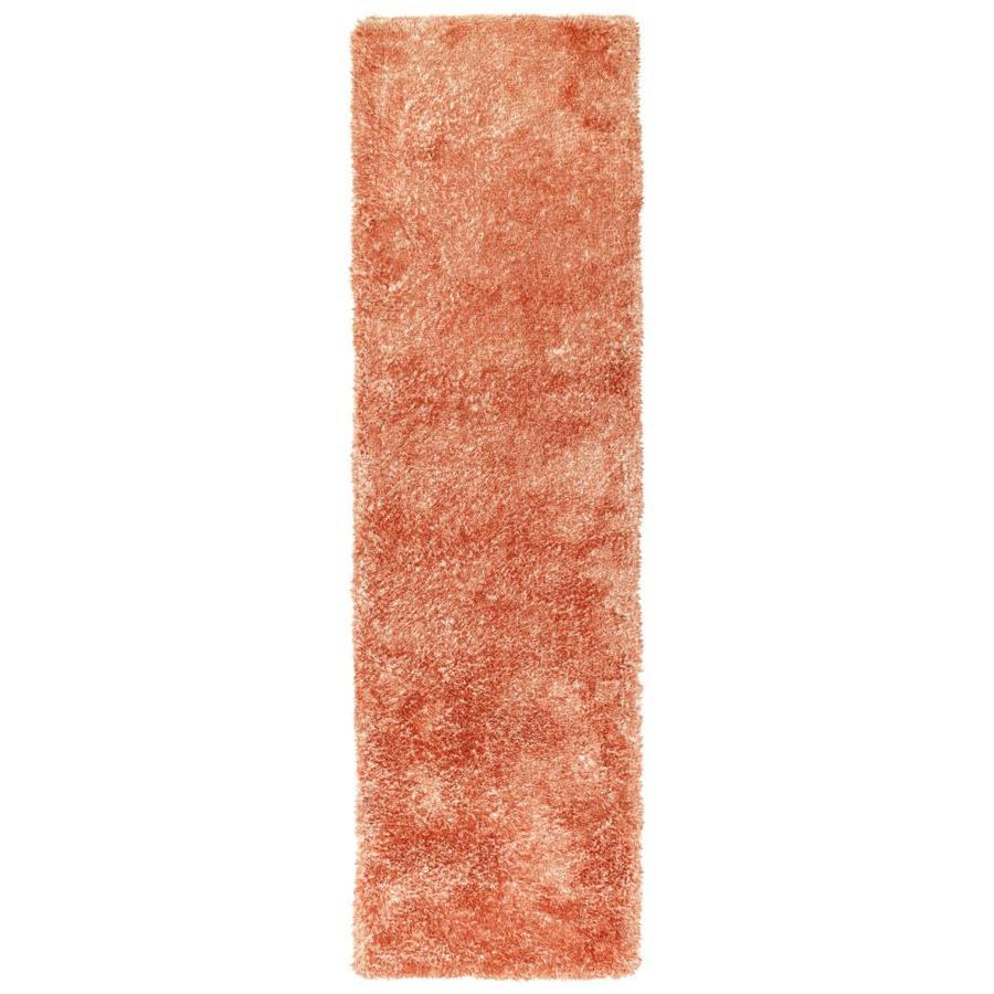 Kaleen Its So Fabulous Tangerine Indoor Handcrafted Runner (Common: 2 x 8; Actual: 2.25-ft W x 8-ft L)