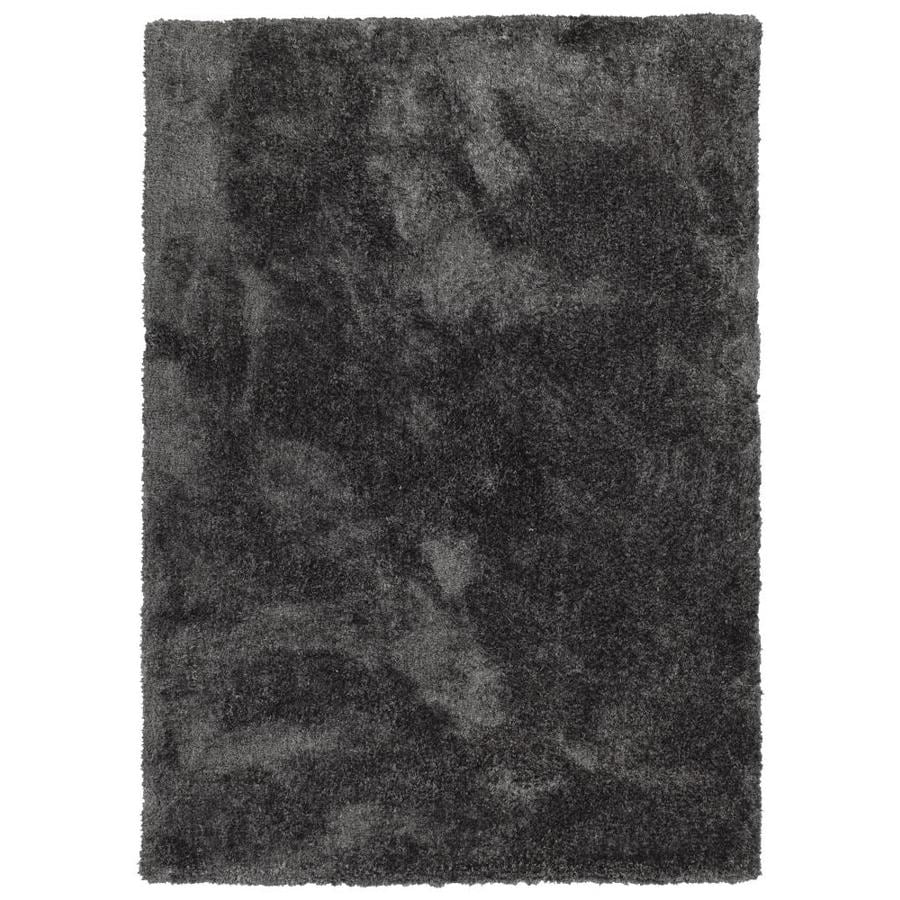 Kaleen Its So Fabulous Charcoal Indoor Handcrafted Throw Rug (Common: 2 x 3; Actual: 2-ft W x 3-ft L)