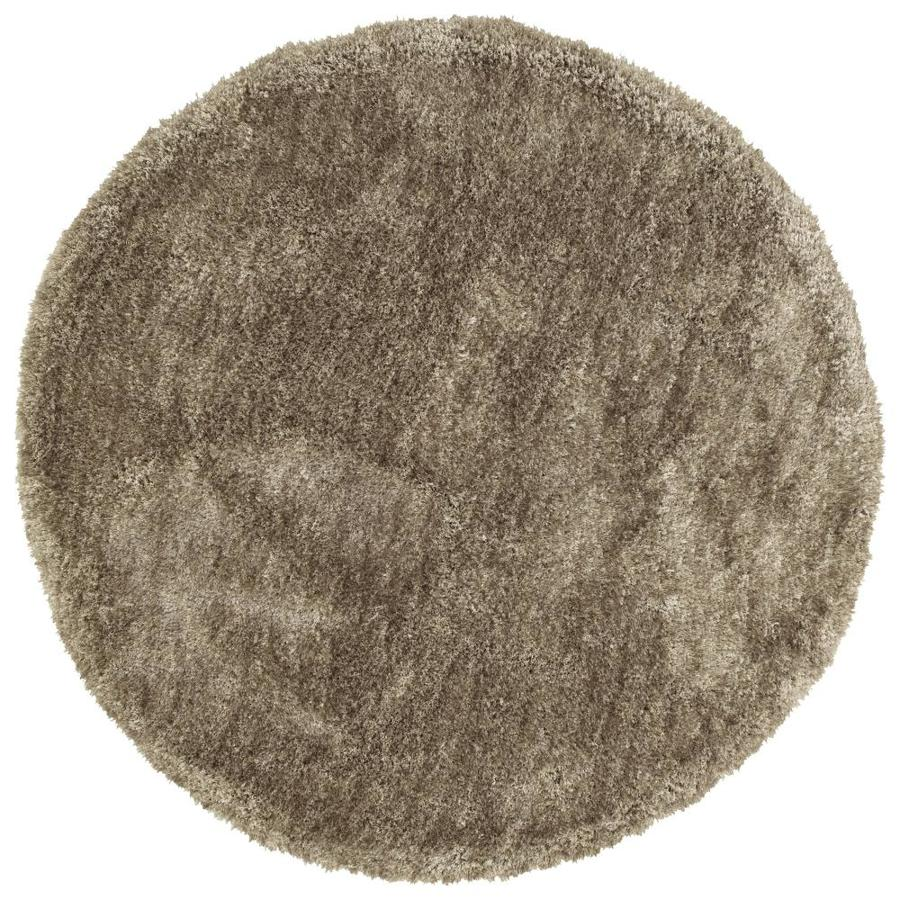 Kaleen Its So Fabulous Chino Round Indoor Handcrafted Area Rug (Common: 4 x 4; Actual: 4-ft W x 4-ft L x 4-ft dia)