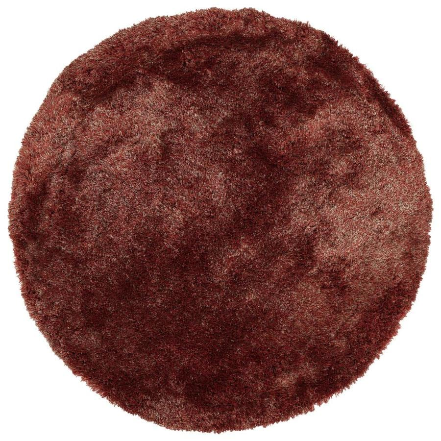 Kaleen Its So Fabulous Cinnamon Round Indoor Handcrafted Area Rug (Common: 8 x 8; Actual: 8-ft W x 8-ft L x 8-ft dia)
