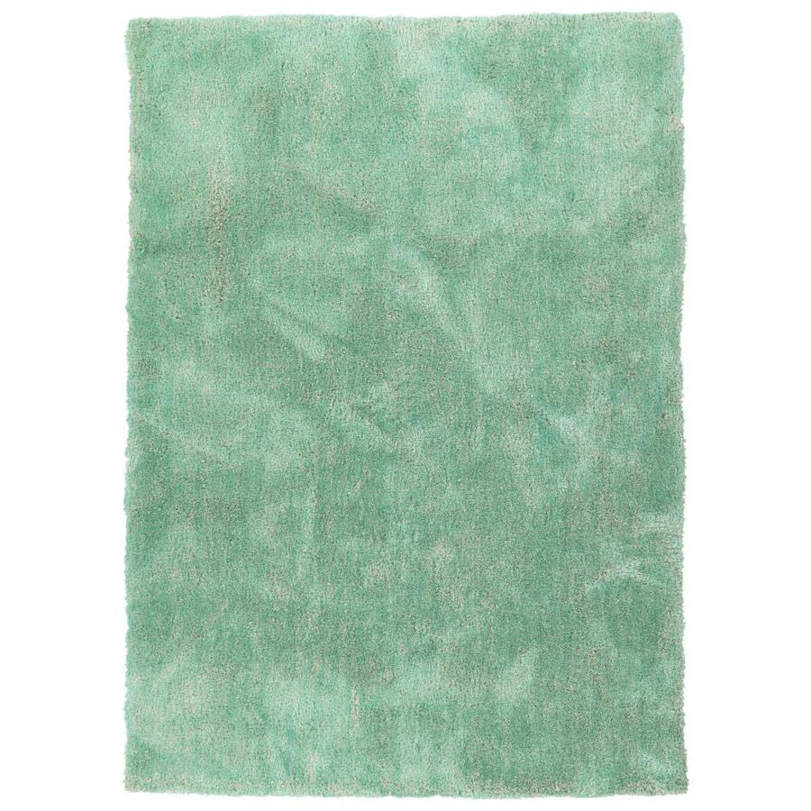 Kaleen Its So Fabulous Turquoise Indoor Handcrafted Area Rug (Common: 9 x 12; Actual: 9-ft W x 12-ft L)