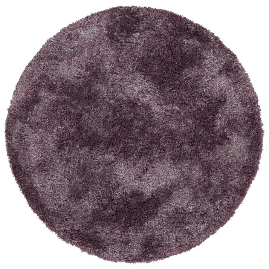 Kaleen Its So Fabulous Lilac Round Indoor Handcrafted Area Rug (Common: 8 x 8; Actual: 96-ft W x 96-ft L x 8-ft dia)