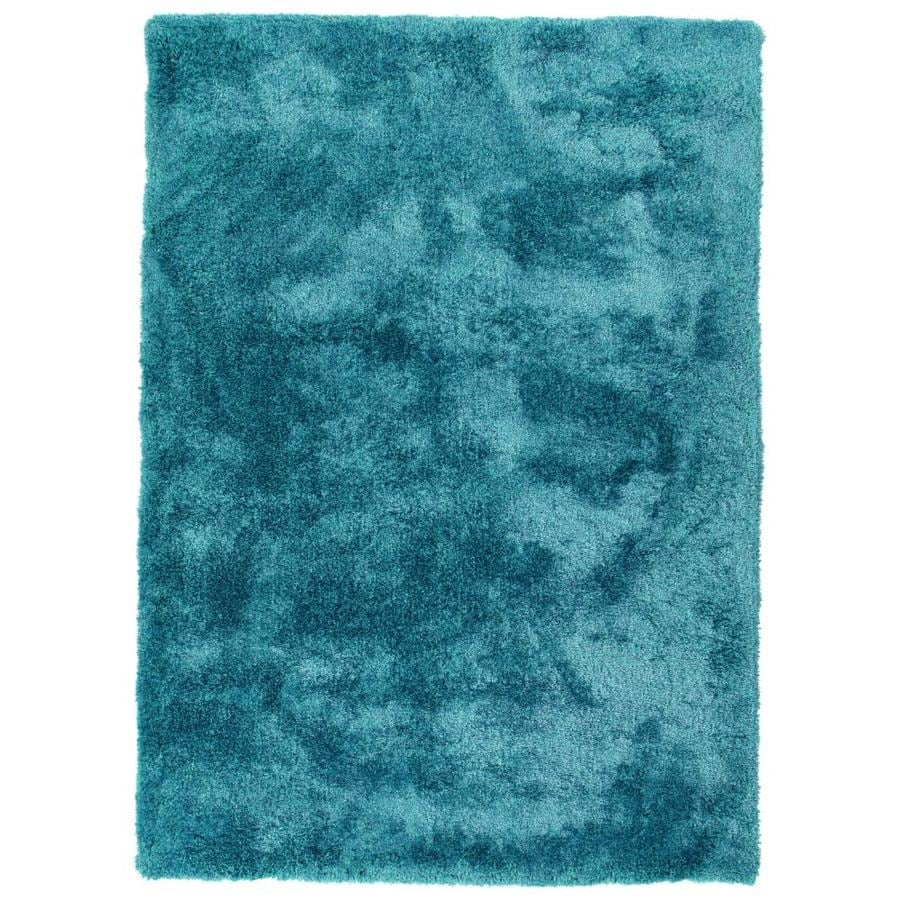 Kaleen Its So Fabulous Teal Indoor Handcrafted Area Rug (Common: 5 x 7; Actual: 5-ft W x 7-ft L)